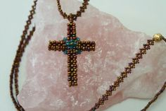 Beaded cross by NFR