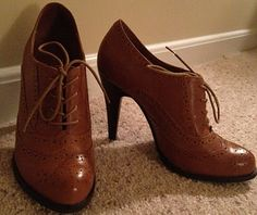 Oxford Heels; i have a pair just like these! i love them!