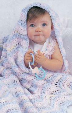 Best Free Crochet » Free Gentle Ripple Crochet Pattern from RedHeart.com #251