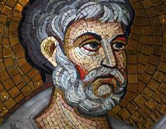 Saint Peter - mosaic Mosaic Garden, Mosaic Art, Ravenna Mosaics, Roman Mosaics, Iron Work, Religious Icons, Paint Stain, Fresco, Spiderman