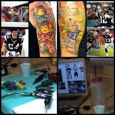 The LEGO/Patriots tattoo inspiration via New England Patriots