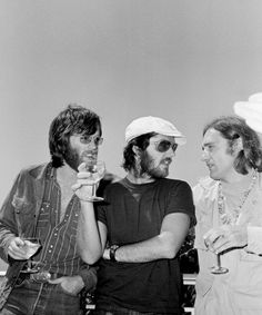Peter Fonda, Jack Nicholson and Dennis Hopper relaxing at the Cannes Film Festival, 1969.