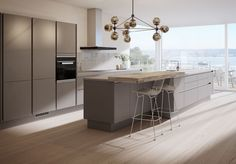 Sigdal Kjøkken - Line Handleless Kitchen Family Rooms, Kitchen Dining, Dining Room, Kitchens, New Homes, Interior, Table, Furniture, Design