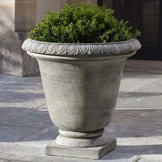 Campania International, Inc Round Urn Planter Finish: Travertine