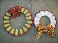 decoracion-navidena-con-materiales-reciclados-corona-de-navidad - ElBlogVerde.com