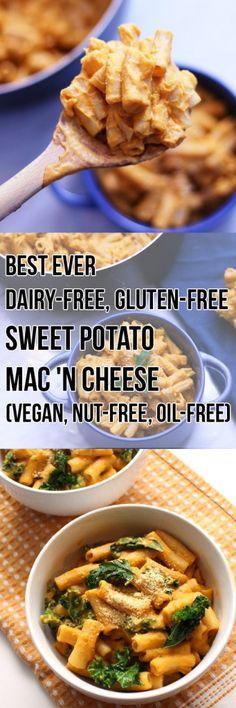The Best Sweet Potato Vegan Mac and Cheese (Gluten-free, Nut-free, Oil-free) - Zena 'n Zaatar