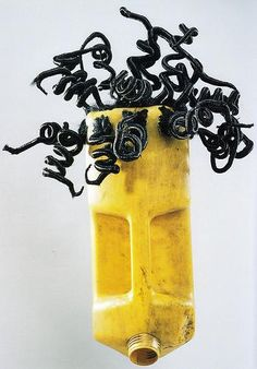 Romuald Hazoume re-creates traditional masks with plastic