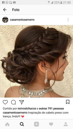 Makeup & Hair Ideas: 45 Gorgeous Quinceanera Hairstyles — Best Styles for Your Celebration!… hochzeitsfrisuren photo 2019 Makeup & Hair Ideas: 45 Gorgeous Quinceanera Hairstyles Best Styles for Your Celebration! Quince Hairstyles, Sweet Hairstyles, Formal Hairstyles, African Hairstyles, Celebrity Hairstyles, Braided Hairstyles, Layered Hairstyles, Hairstyles 2018, Braided Updo
