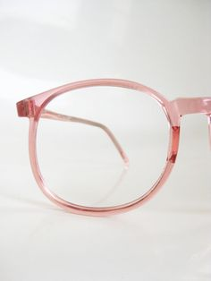 Vintage CANDY PINK Eyeglasses Round Indie by OliverandAlexa