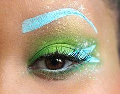 Disney Collection: Tinkerbell Look - make_up_pintennium Tinkerbell Makeup, Disney Eye Makeup, Disney Inspired Makeup, Tinkerbell Disney, Cute Makeup, Makeup Art, Makeup Looks, Karneval Diy, Make Up Tricks