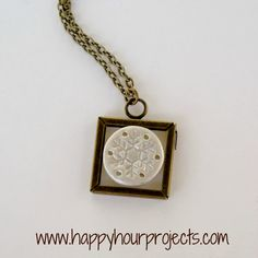 Happy Hour Projects: Jewelry snowflake necklace made with polymer clay