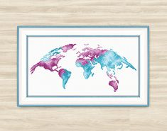 Wedding guest book alternative wedding guest book heart guest book buy 2 get 1 free earth cross stitch pattern world pattern globe art alternative planet world map pattern travel chart earth peace watercolor gumiabroncs Images