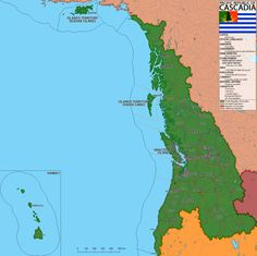 The Pacific Republic of Cascadia (Revamped) Cascadia alternative future map