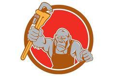 Angry Gorilla Plumber Monkey Wrench #kplumber