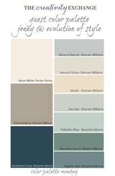 Guest Color Palette {Jenny from Evolution of Style}..