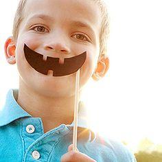 Jack O' Lantern Smile Sticks