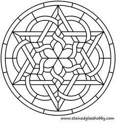 Ideas For Embroidery Patterns Mandala Stained Glass Stained Glass Projects, Stained Glass Patterns, Mosaic Patterns, Pattern Art, Embroidery Patterns, Art Patterns, Mandala Coloring, Colouring Pages, Coloring Books