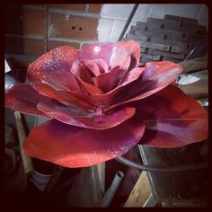 Metal painted rose