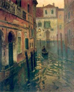 Fritz Thaulow: On Canal.