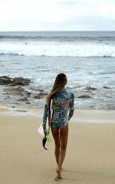 Isabella Nichols up for a little surf