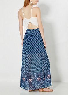 Boho & Crochet Bodice Maxi Dress
