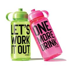 Cute water bottles from Pink by VS