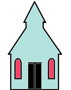 christian symbol black line art for kids church building 01 clip rh pinterest co uk  free clipart church building