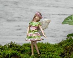 Estatuilla de hadas de jardín de hadas, hadas accesorios, miniaturas para el terrario o jardín de hadas, fuente accesorios jardín de hadas, miniaturas de jardín