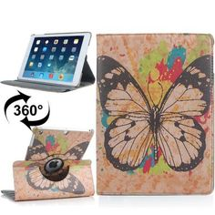 For+iPad+Air+Rotatable+Butterfly+Pattern+Leather+Case+with+3+Gears+Holder