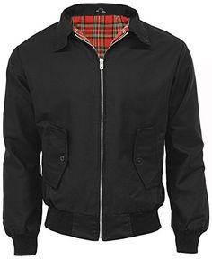 cd728bc615c N A Mens Classic Vintage Harrington Bomber Jacket