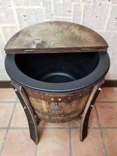 Half Whiskey Barrels, Whiskey Barrel Table, Whiskey Barrel Furniture, Barrel Bar, Wine Barrels, Half Barrel Ideas, Wine Barrel Crafts, Coffee Games, Barrel Projects