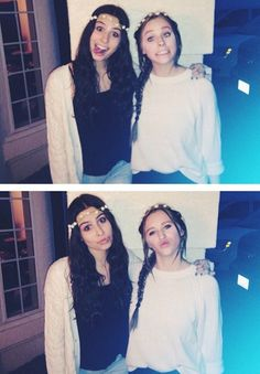Lauren Cimorelli and Ellie with a flower crown Lauren Cimorelli, Six Girl, Six Sisters, Girl Bands, These Girls, Cool Girl, Amy, Cute, Flower Crown
