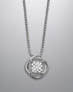 Love this necklace!!  $525 - 7mm Pave Diamond Infinity Necklace by David Yurman at Neiman Marcus.