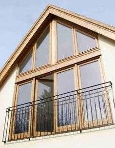 Exactly our bedroom window but in grey Gable Wall, Gable Window, Bungalow Conversion, Juliette Balcony, Loft Room, Mezzanine Bedroom, Bedroom Loft, Dormer Windows, Rustic Home Design