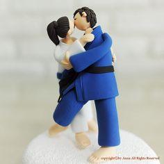Jiujitsu Judo sports mania custom cake topper gift by annacrafts, $180.00