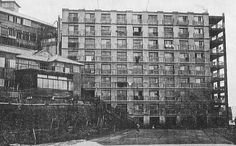 Hashima apartment building circa 1930 - Hashima Island - Wikipedia, the free encyclopedia