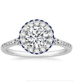 Circa Diamond Ring with Sapphire Accents