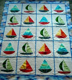 Sailboat Quilt by AngieQuilts