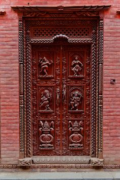 Unique and beautiful door. Bhaktapur, Kathmandu Valley. | by neildakeyne