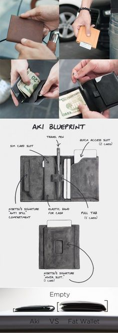 Aki, which means Autumn in Japanese, is one of Kisetsu's most convenient and stylish minimalist wallets that has been designed while keeping in mind beauty, form, function, comfort, style, speed, security and convenience. Its meticulous design makes Aki an all-encompassing everyday carry.