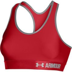 Under Armour Women's Armour Mid Sports Bra (Red, Size X Small) - Women's Athletic Apparel, Women's Workout Bras at Academy Sports