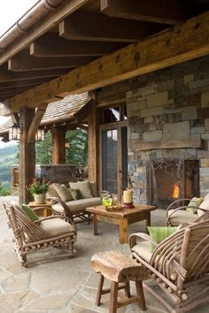 Rustic country outdoor living