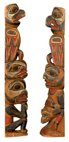 model northwest coast totem poles - Google Search