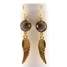 Angel wings earrings with hooks and amethyst stones, and gold filed wings. These earrings are long. Angel Wing Earrings, Drop Earrings, Amethyst Stone, Angel Wings, Fashion Accessories, Gemstones, Womens Fashion, Gold, Etsy