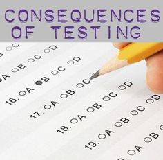 Tragic consequences of high-stakes testing! Do you know what they are?
