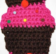 Shocking Pink Cupcake Scarf 52 by AMELSEN25 on Etsy, $10.00