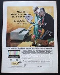 1959 Thermo-Fax Copying Machine boss & secretary vintage technology ...