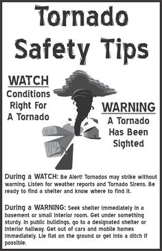 Easy difference between tornado watch and warning. Easy difference between tornado watch and warning. Weather And Climate, Severe Weather, Weather Science, Weather Storm, Extreme Weather, Weather Conditions, Tornado Preparedness, Disaster Preparedness, Tornado Safety Tips