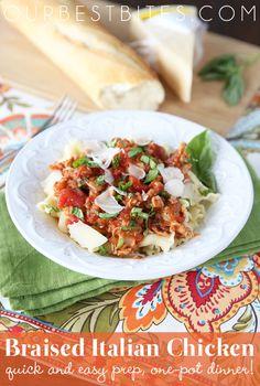 New Family Favorite:Braised Italian Chicken.  So, so easy and so good!