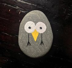 Silly bird painted rock